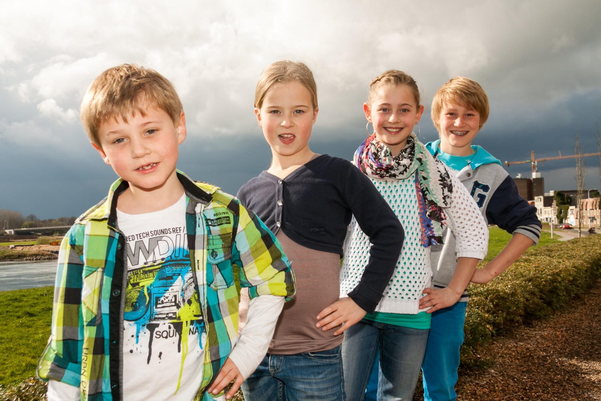 Familiefoto's aan de IJssel